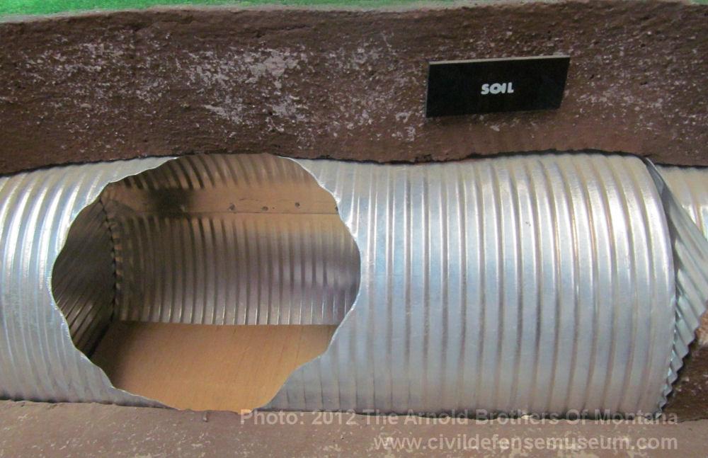 Corrugated Metal Shelter : Civil defense museum art gallery shelter models below