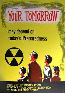 Image result for 1950 civil defense poster -be prepared today for survival tomorrow