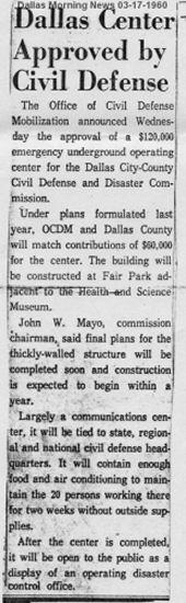 3-17-1960 Dallas News Article