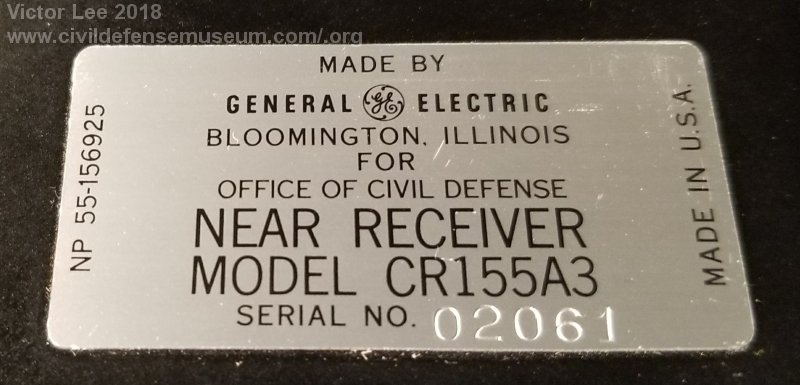 Civil Defense Museum-The NEAR Project / NEAR Receiver