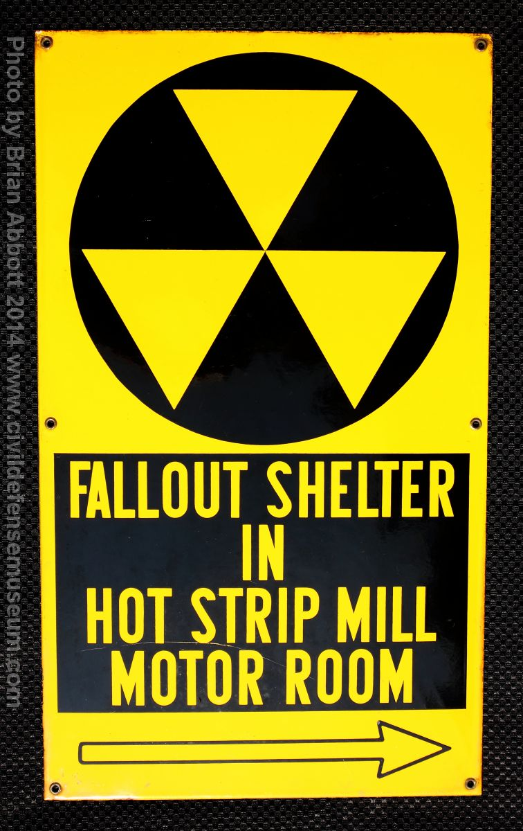 Civil defense museum national fallout shelter program public company made sign from steel mill buycottarizona Image collections