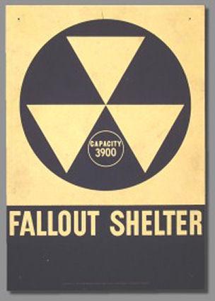 FALLOUT SHELTER SIGN// CIVIL DEFENSE// EXACT REPRODUCTION 10x14
