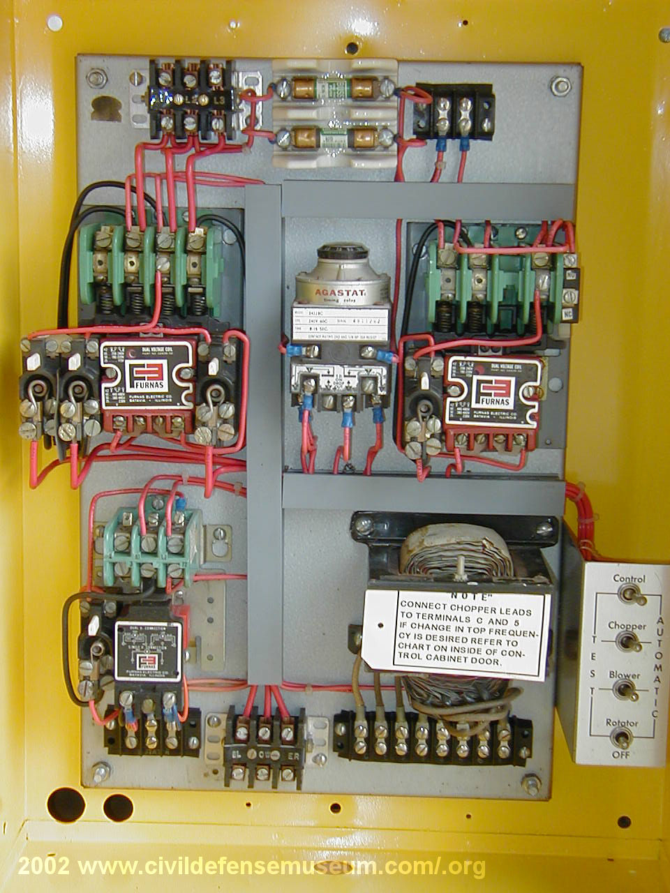 Civil Defense Museum The First Siren Project Federal Thunderbolt Control Cabinet Wiring Diagram Rcm Panel