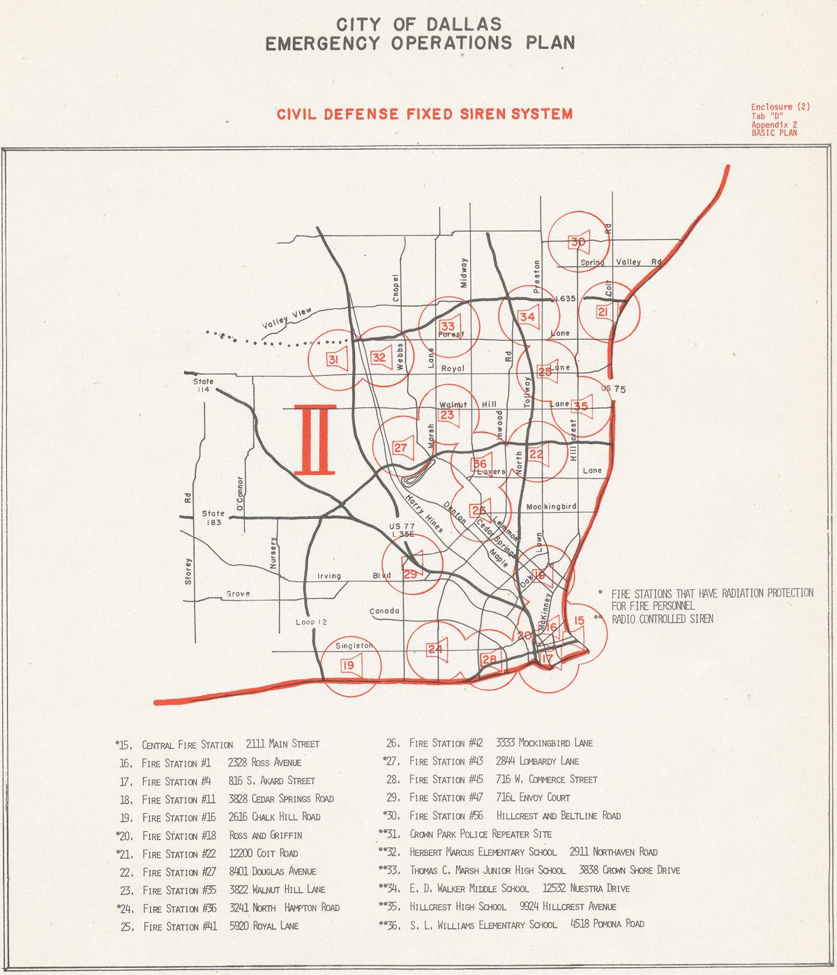 Fire Station Siren Wiring Diagram Schematic Diagrams Um3561 Generator Design Civil Defense Museum Warning Sirens City Of Dallas Texas White Thunderbolt